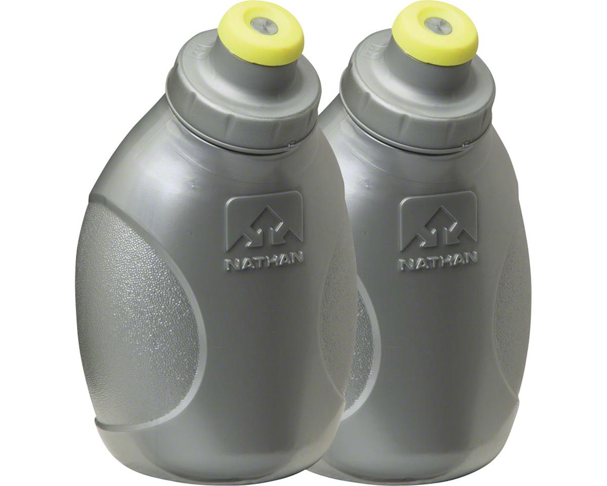 Push-Pull Cap Flask 2-Pack: 10oz, Silver