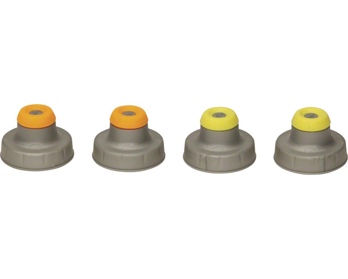 Push-Pull Flask Replacement Caps: 4-Pack, Assorted Colors