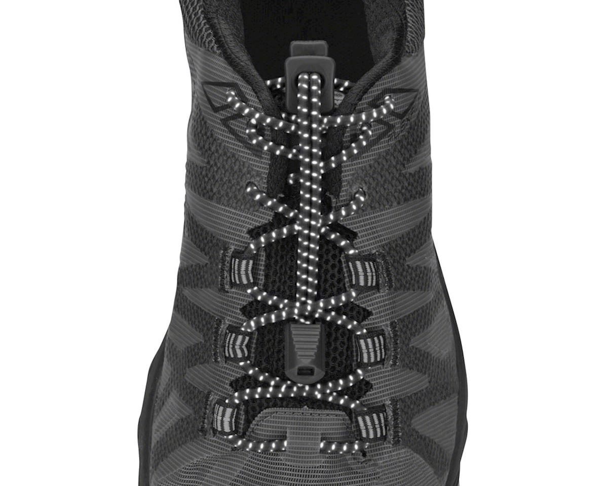 Nathan Run Laces Reflective: One Size Fits All, Black