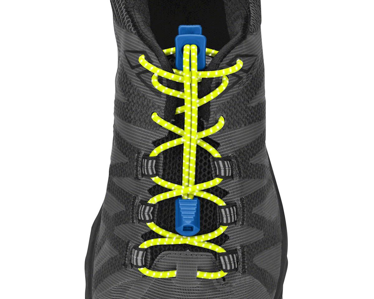 Nathan Run Laces Reflective: One Size Fits All, Yellow/Blue