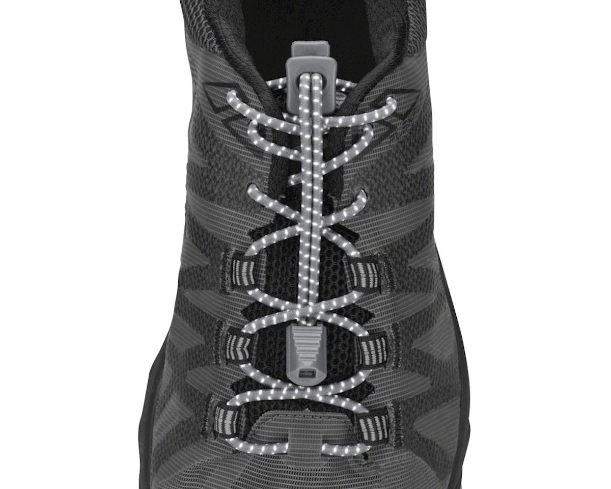 Run Laces Reflective: One Size Fits All, Steel Grey