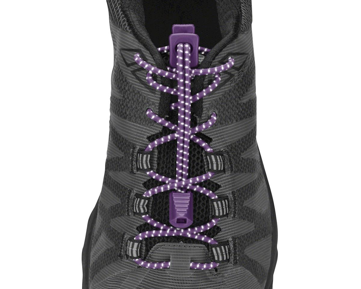 Nathan Run Laces Reflective: One Size Fits All, Purple Magic