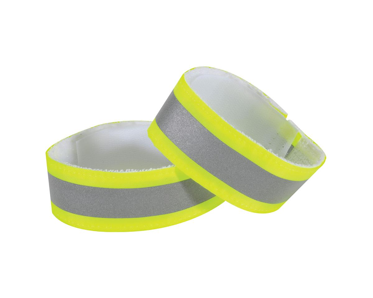 Nathan Reflective Ankle Bands (Hi-Vis Yellow) (One Size)