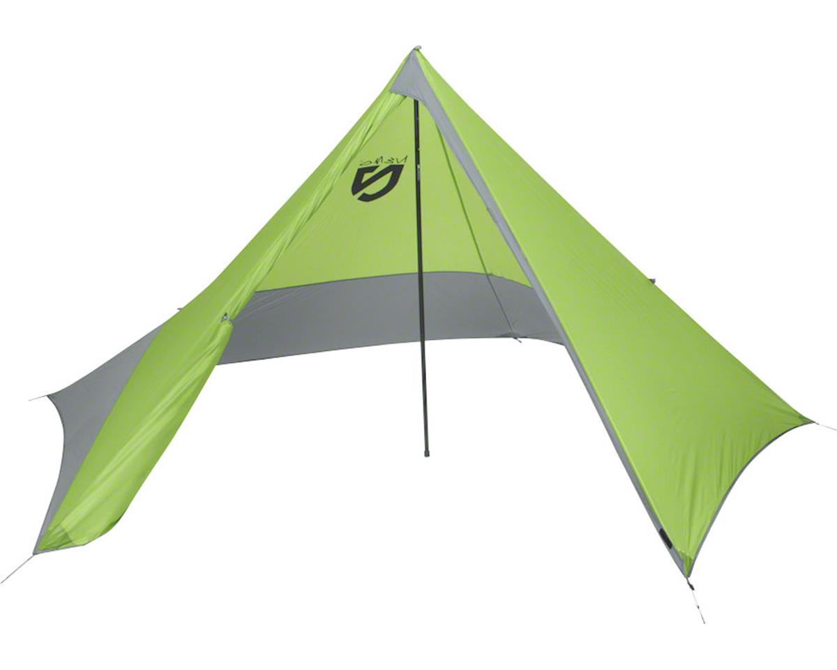Equipment, Inc. Apollo 3P Pentagonal Tarp with Center Pole: Green/Gray