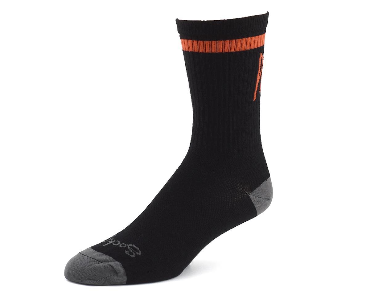 "Niner Bikes SockGuy Wool ""Pedal Damn It"" Socks (Black/Orange)"