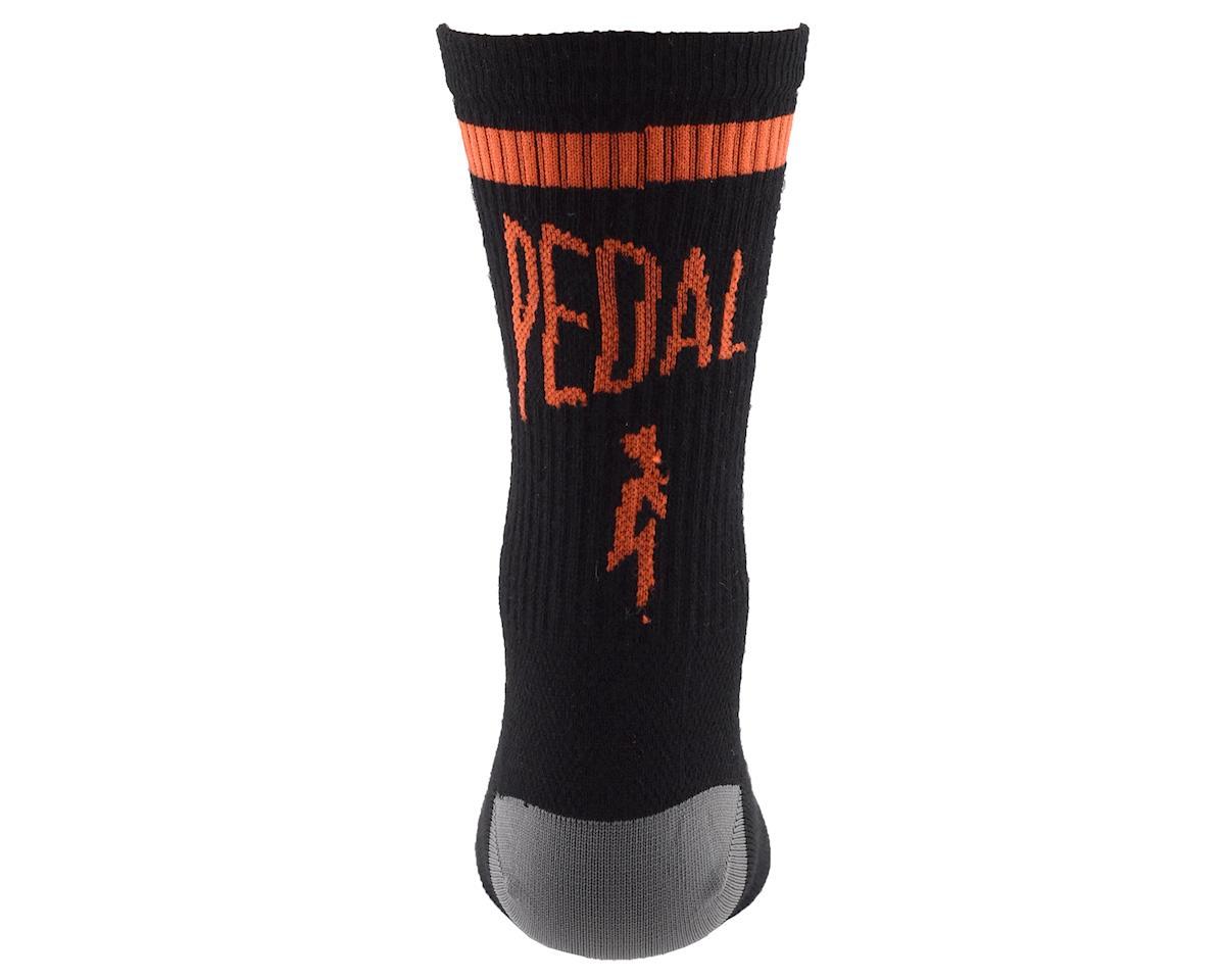 "Image 2 for Niner Bikes SockGuy Wool ""Pedal Damn It"" Socks (Black/Orange) (L/XL)"