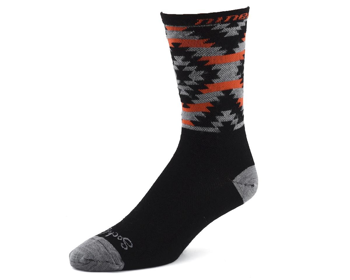 """Niner Bikes SockGuy Wool 6"""" Serape Socks (Grey/Orange)"""