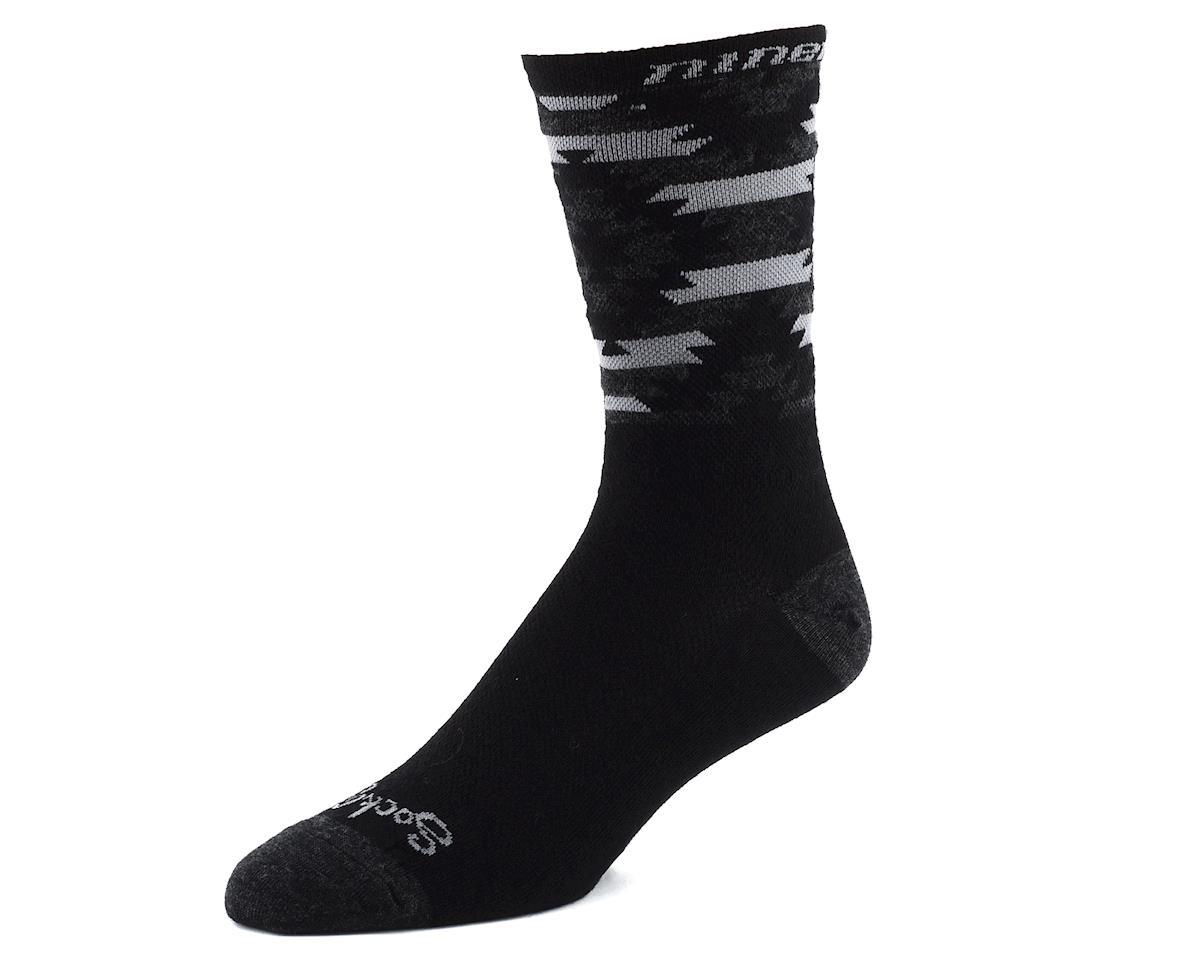 """Niner Bikes SockGuy Wool 6"""" Serape Socks (Grey/Black)"""