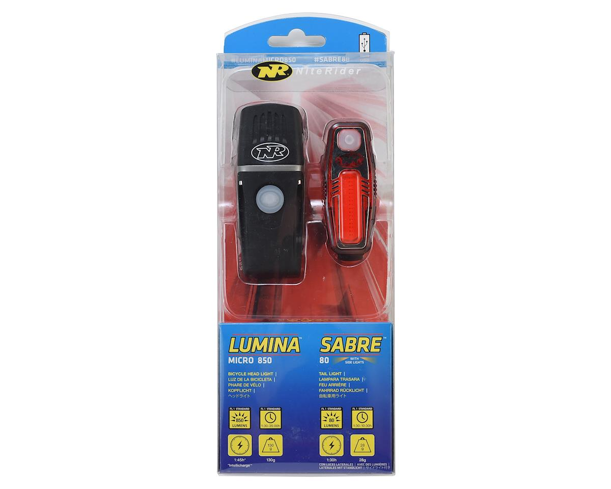 NiteRider Lumina Micro 850 Head Light & Sabre 80 Tail Light Combo