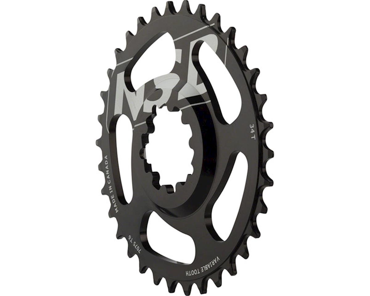 North Shore Billet Direct Mount Variable Tooth Chainring: 34T, for SRAM X9/X0 Cr