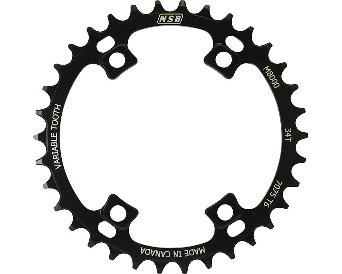 North Shore Billet Variable Tooth Chainring: 34T, Shimano XT 8000 96 Asymmetric