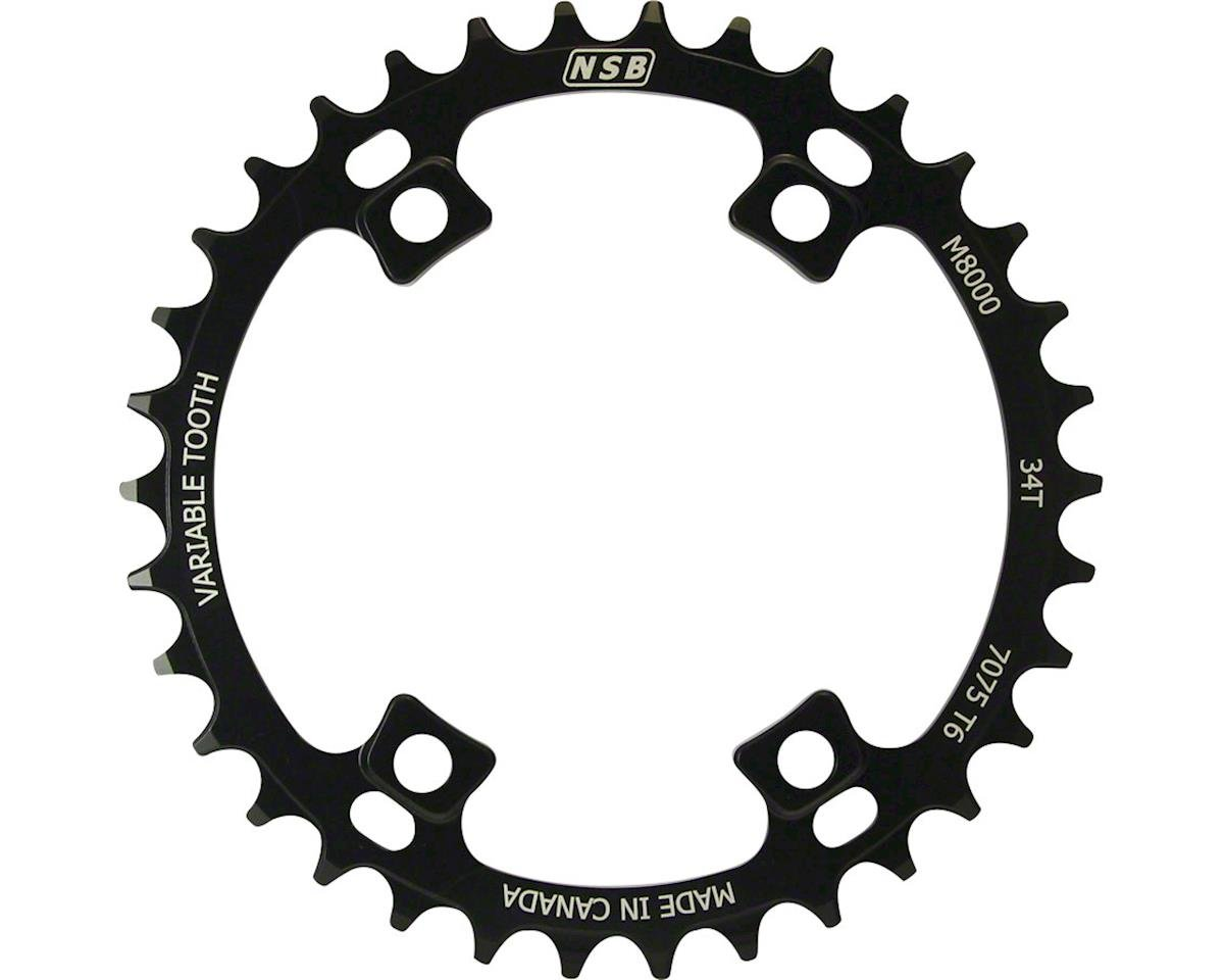 North Shore Billet Variable Tooth Chainring: 36T, Shimano XT 8000 96 Asymmetric