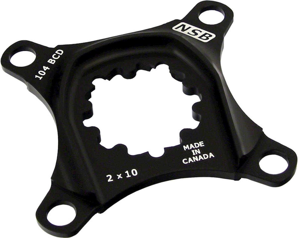 North Shore Billet 64/104bcd 2x10 Spider for SRAM X0 GXP Cranks Black