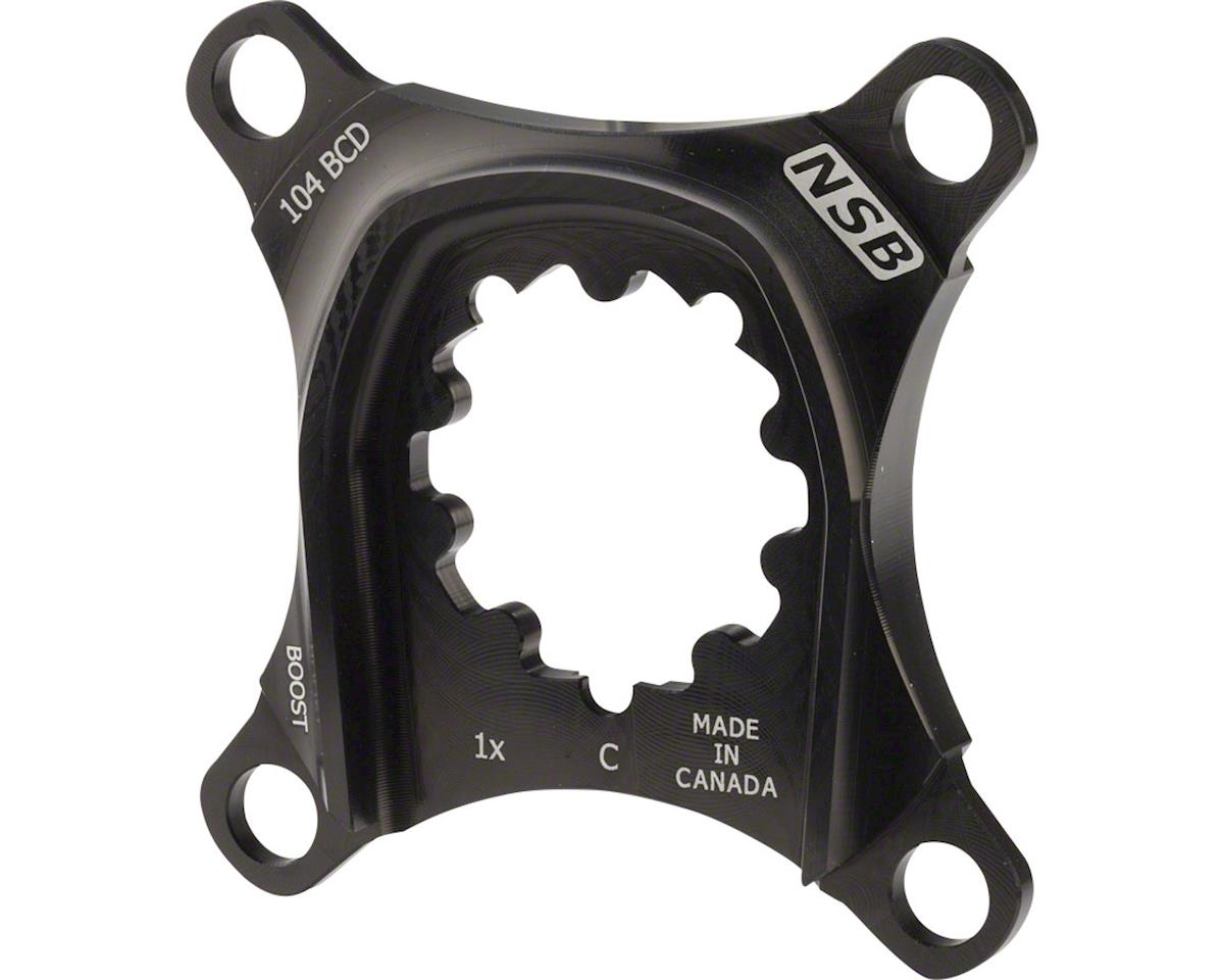 North Shore Billet 1x Spider for SRAM XO Carbon Cranks: 104 BCD Boost Chainline