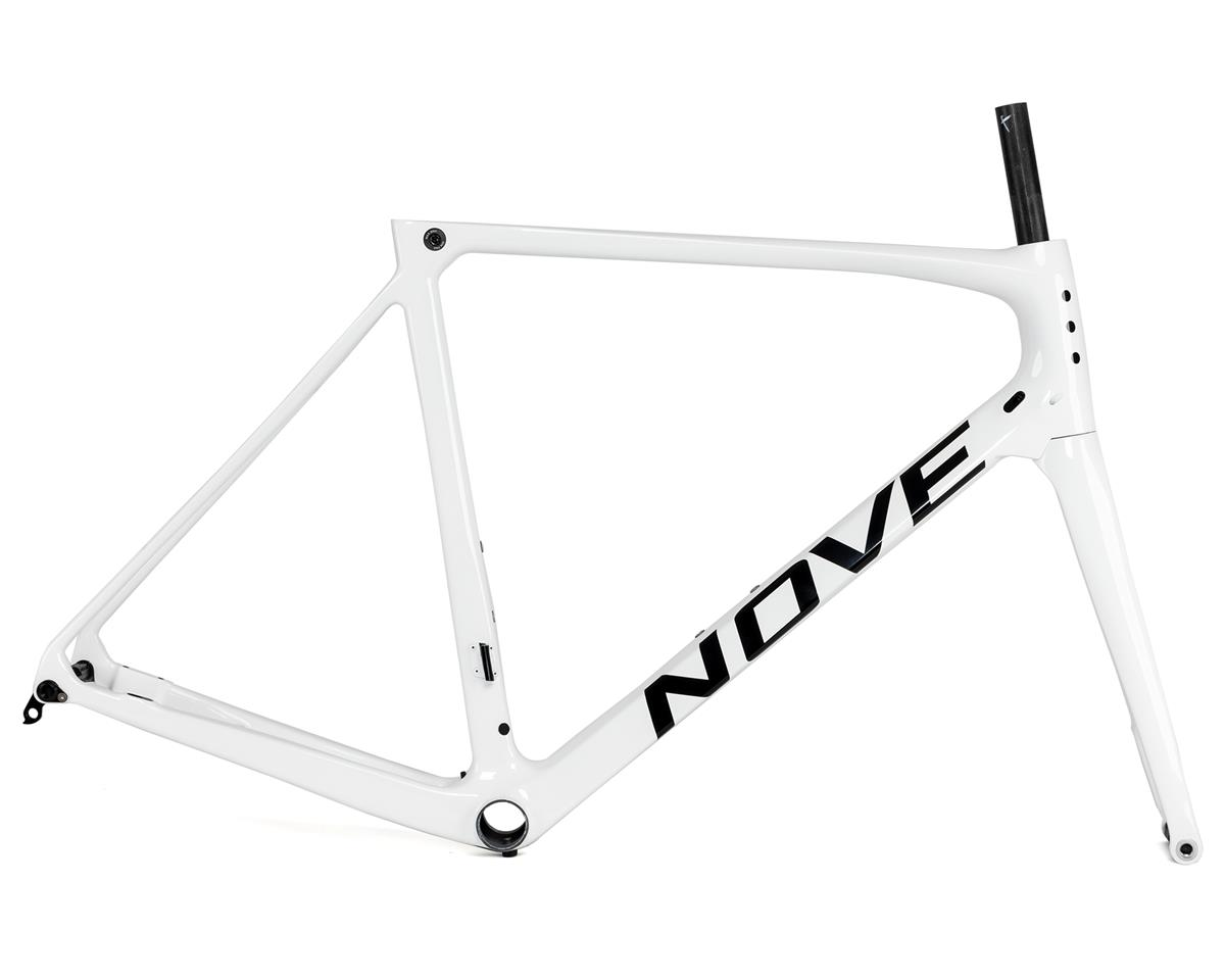 Nove Race Disc Frameset (Gloss White/Black Logo) (S)
