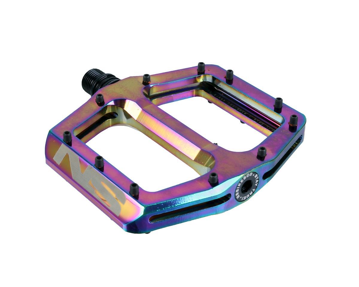 Ns Bikes Radiance platform pedals, oilslick