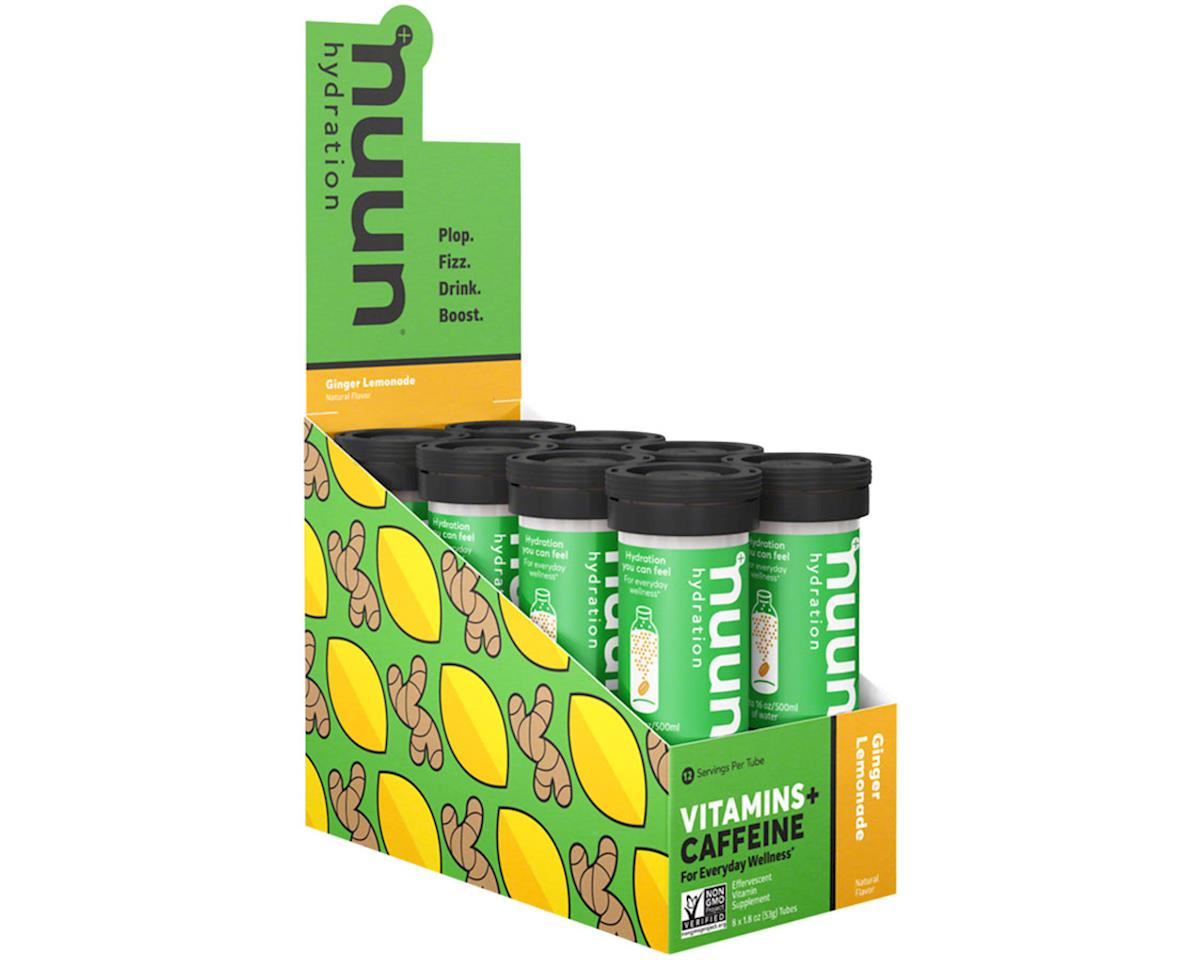 Nuun Vitamin Hydration Tablets (Ginger Lemonade + Caffeine) (8 Tubes)