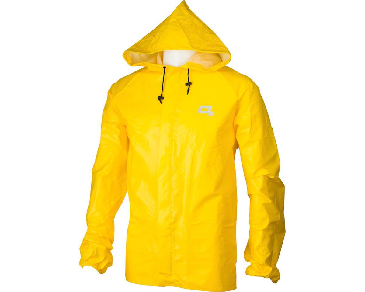 O2 Rainwear Element Series Rain Jacket with hood: Yellow 2XL (M)