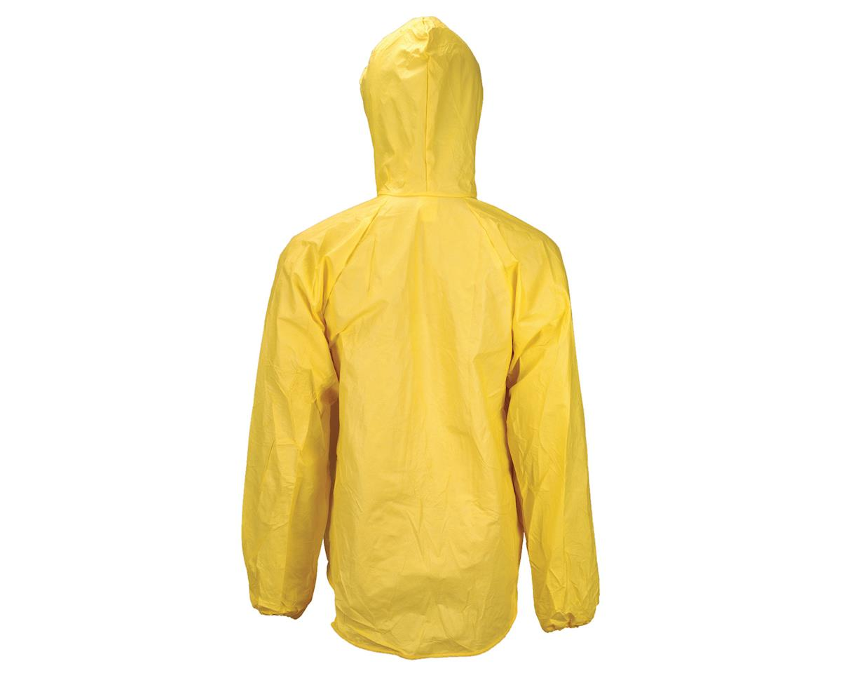 O2 Rainwear Hooded Rain Jacket w/ Drop Tail (Yellow) (M)