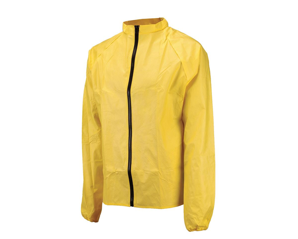 O2 Rainwear Cycling Rain Jacket (Yellow) (L)
