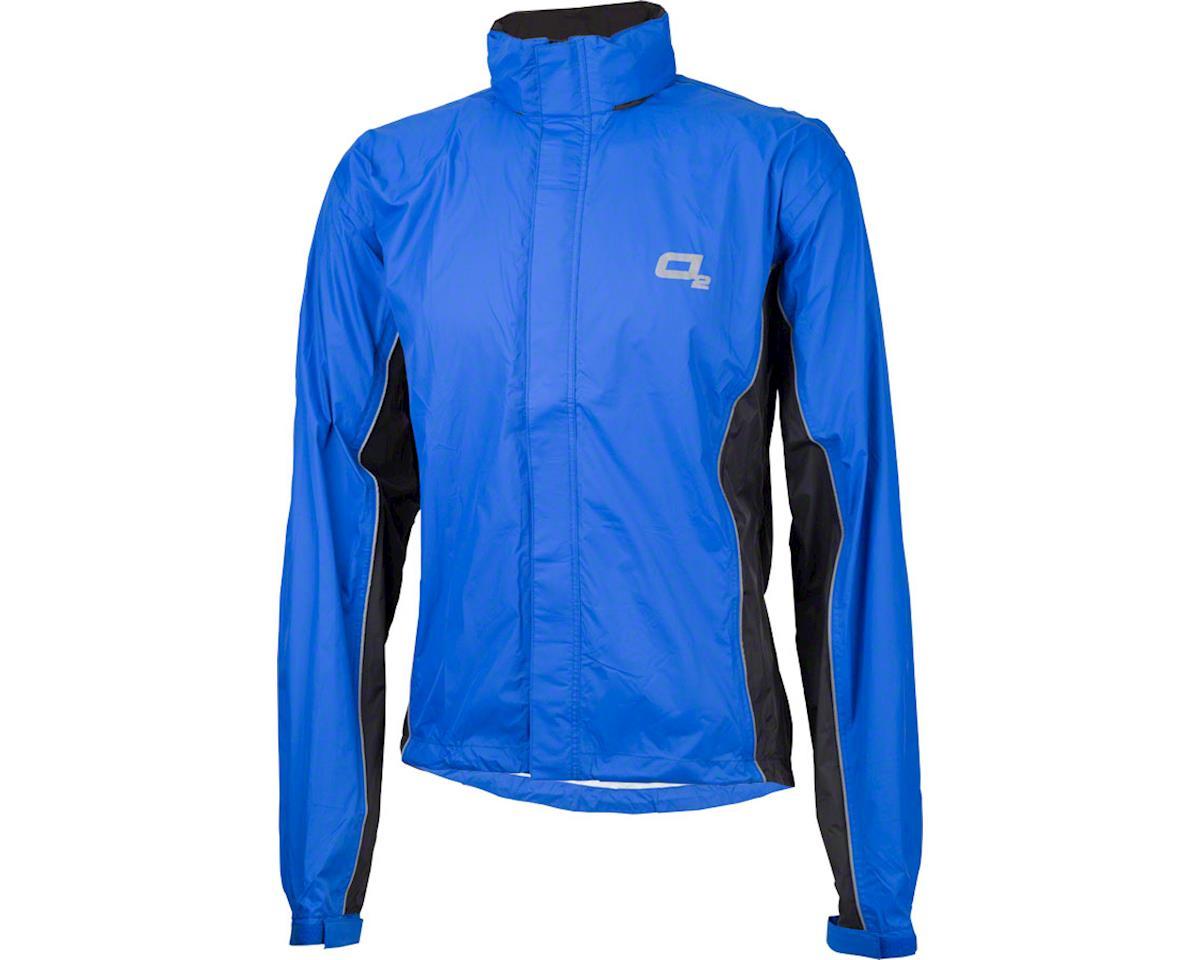 O2 Rainwear Primary Rain Jacket w/ Hood (Royal Blue) (XL)