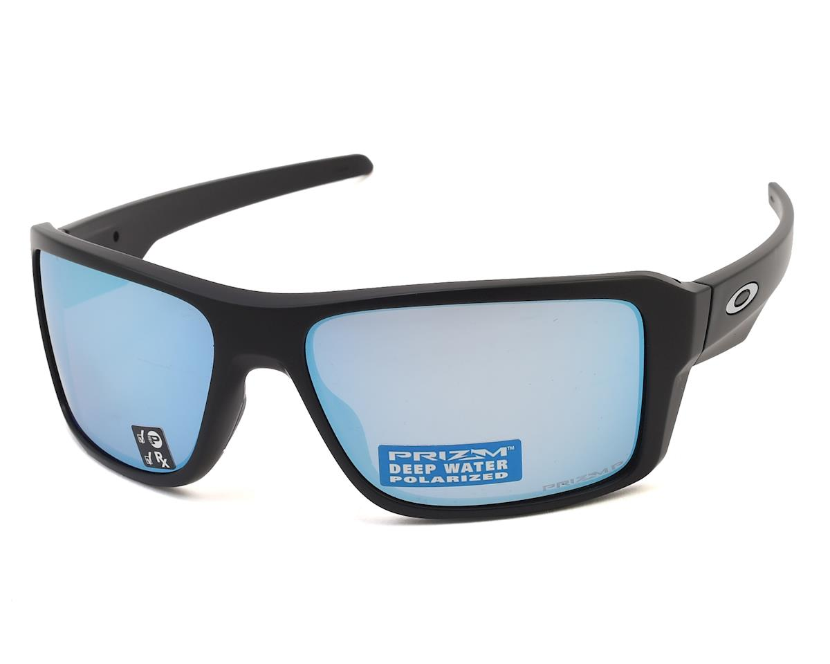 Oakley Double Edge Sunglasses (Matte Black) (Prizm Deep H2O Lenses)