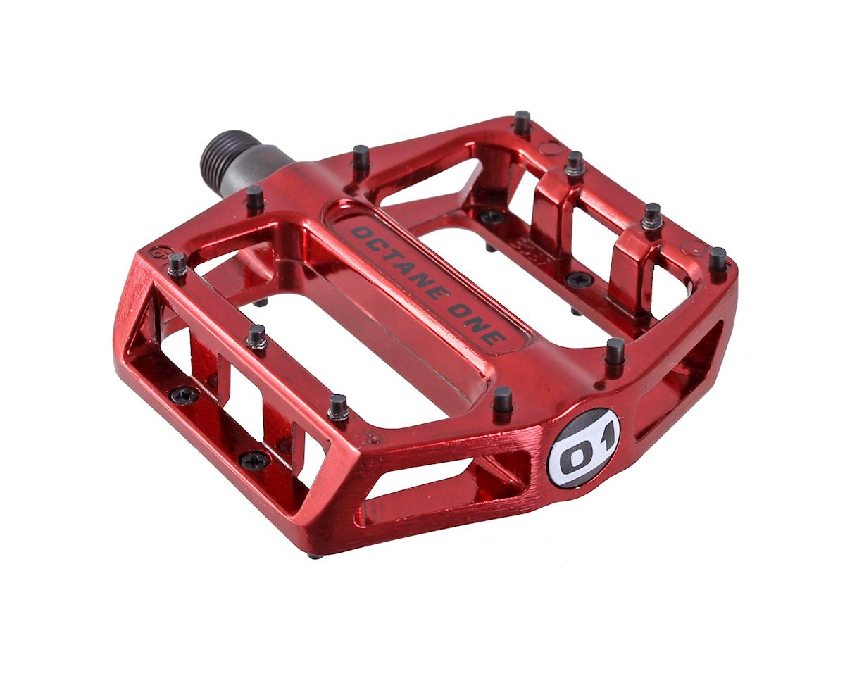 Octane One Static Platform Pedals (Red)