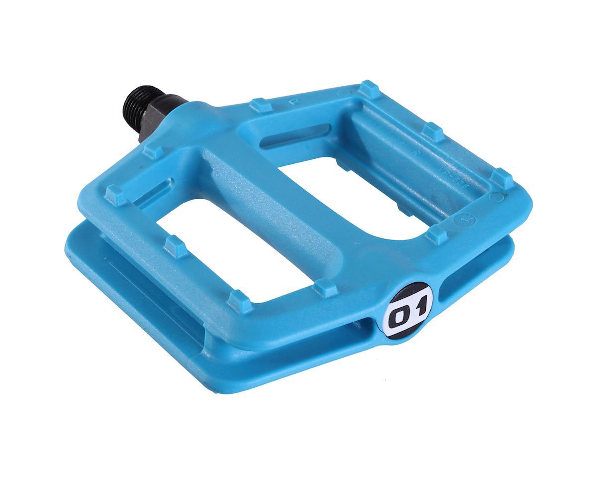 Octane One Nylon Platform Pedals (Blue)