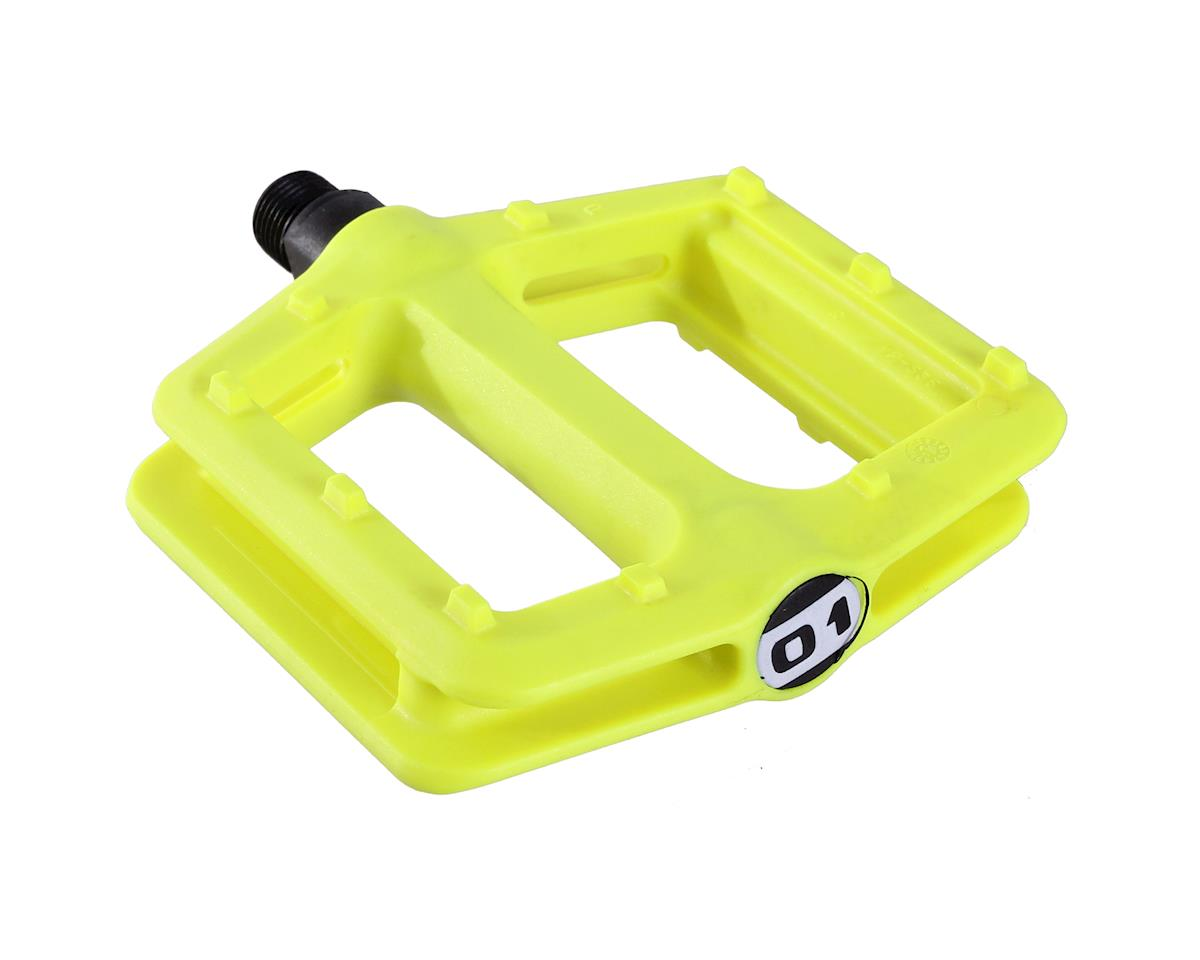 Octane One Nylon Platform Pedals (Lemon Yellow)