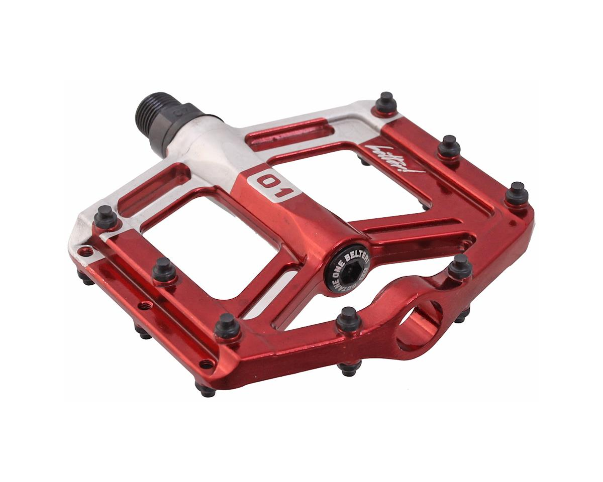 Octane One Belter Platform Pedals (Red)