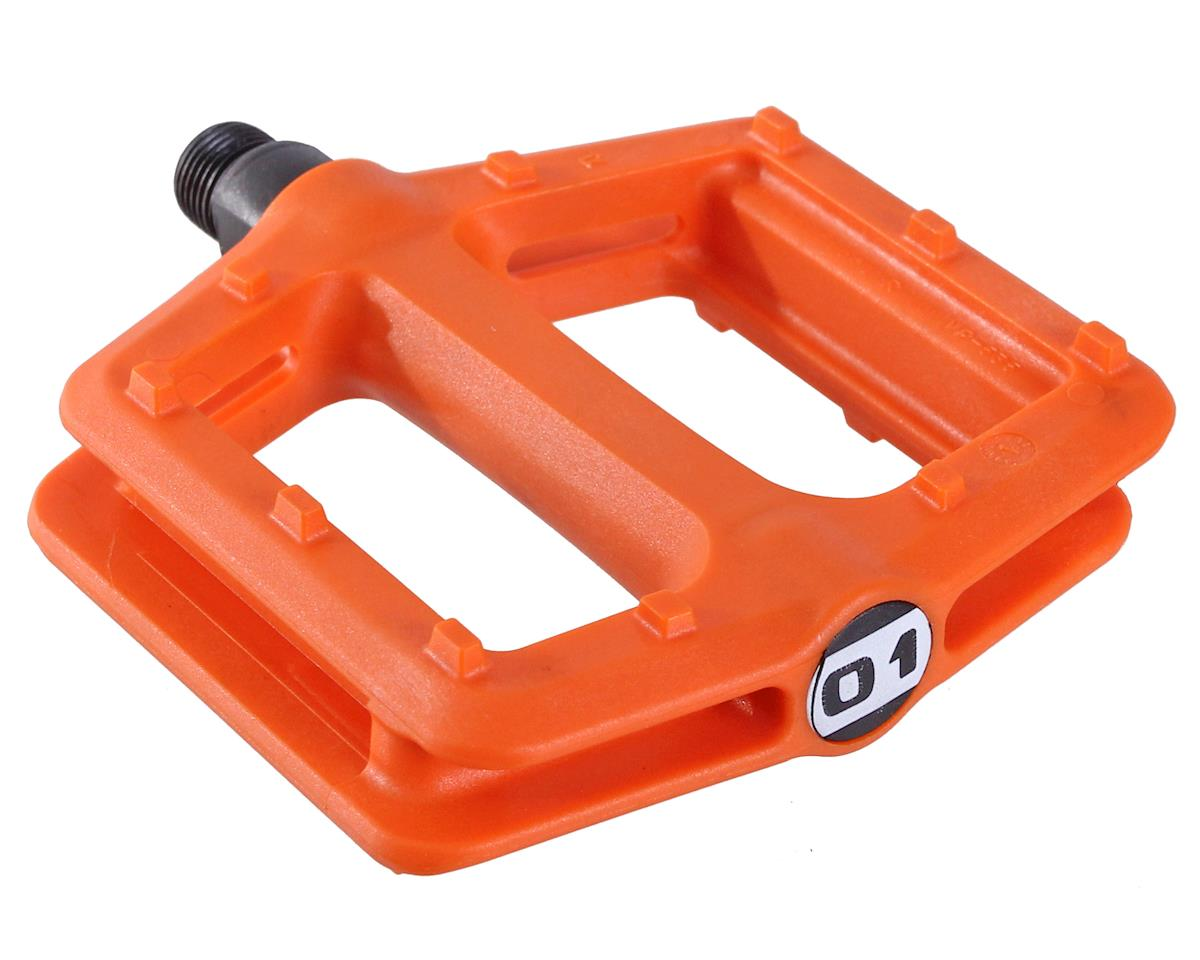 Octane One Nylon Platform Pedals (Orange)