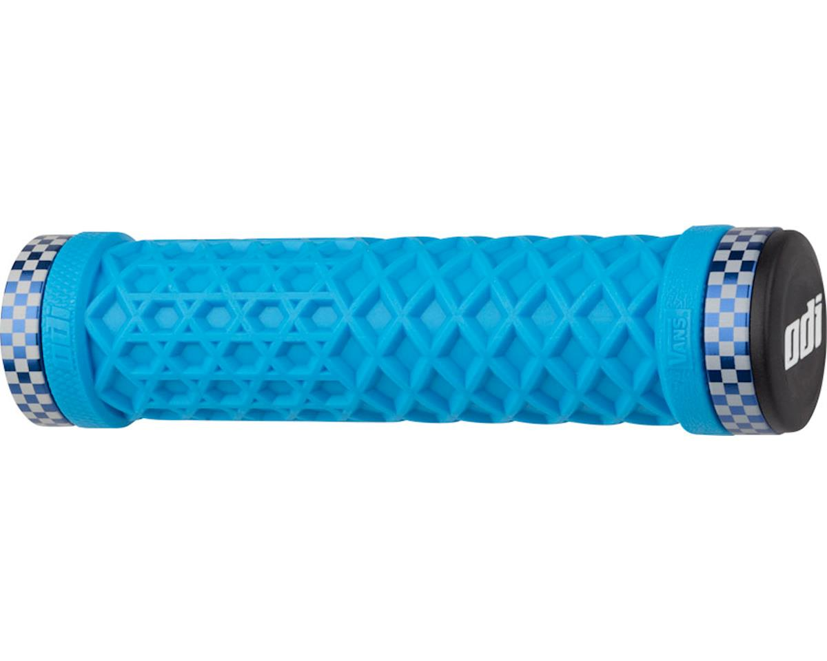 ODI VANS Lock-On Grips Light (Blue w/ Blue Classic Checker Clamps) (130mm)