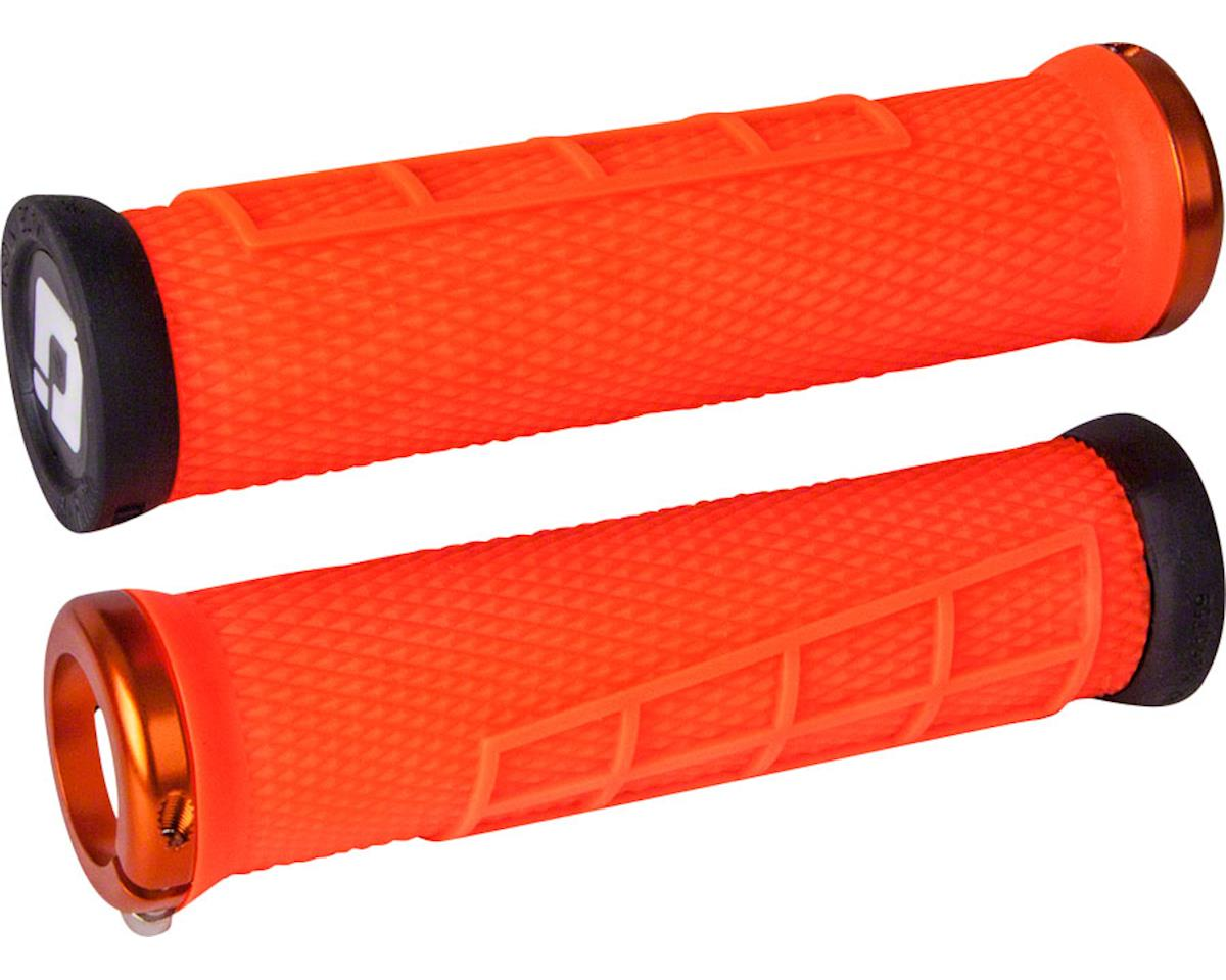 ODI Elite Flow Lock-On Grips (Orange w/ Orange Clamps)