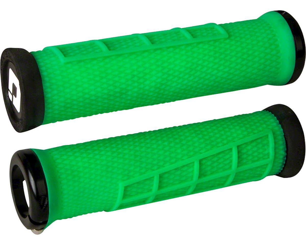 ODI Elite Flow Lock-On Grips (Retro Green w/ Black Clamps)
