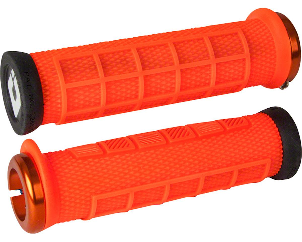 ODI Elite Pro Lock-On Grips (Orange w/ Orange Clamps)
