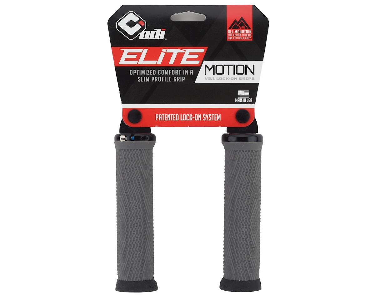 Image 2 for ODI Elite Motion Lock On Grips (Graphite w/ Black Clamps)