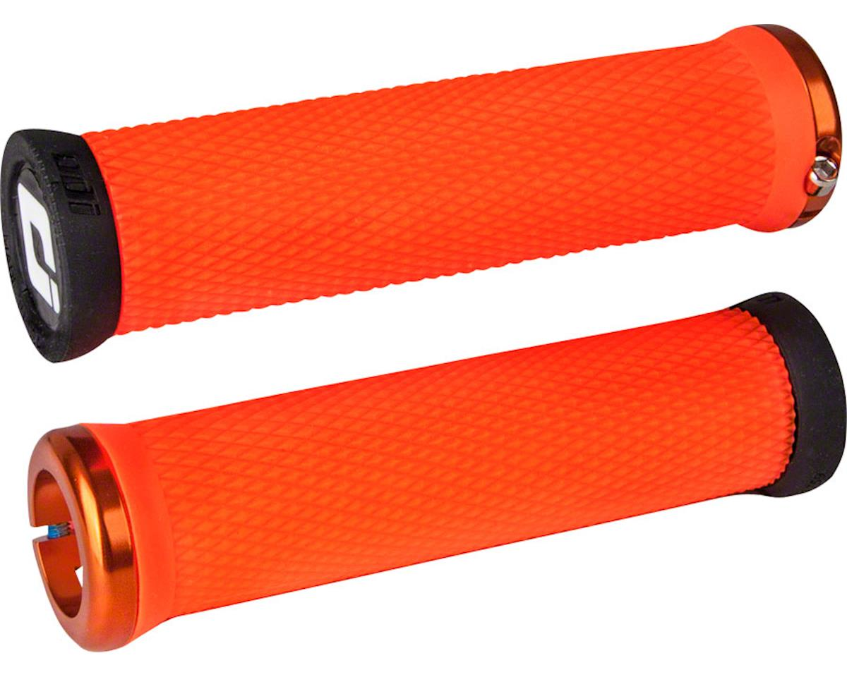 ODI Elite Motion Lock-On Grips (Orange w/ Orange Clamps)
