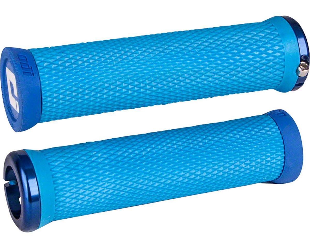 ODI Elite Motion Lock-On Grips (Light Blue w/ Blue Clamps)