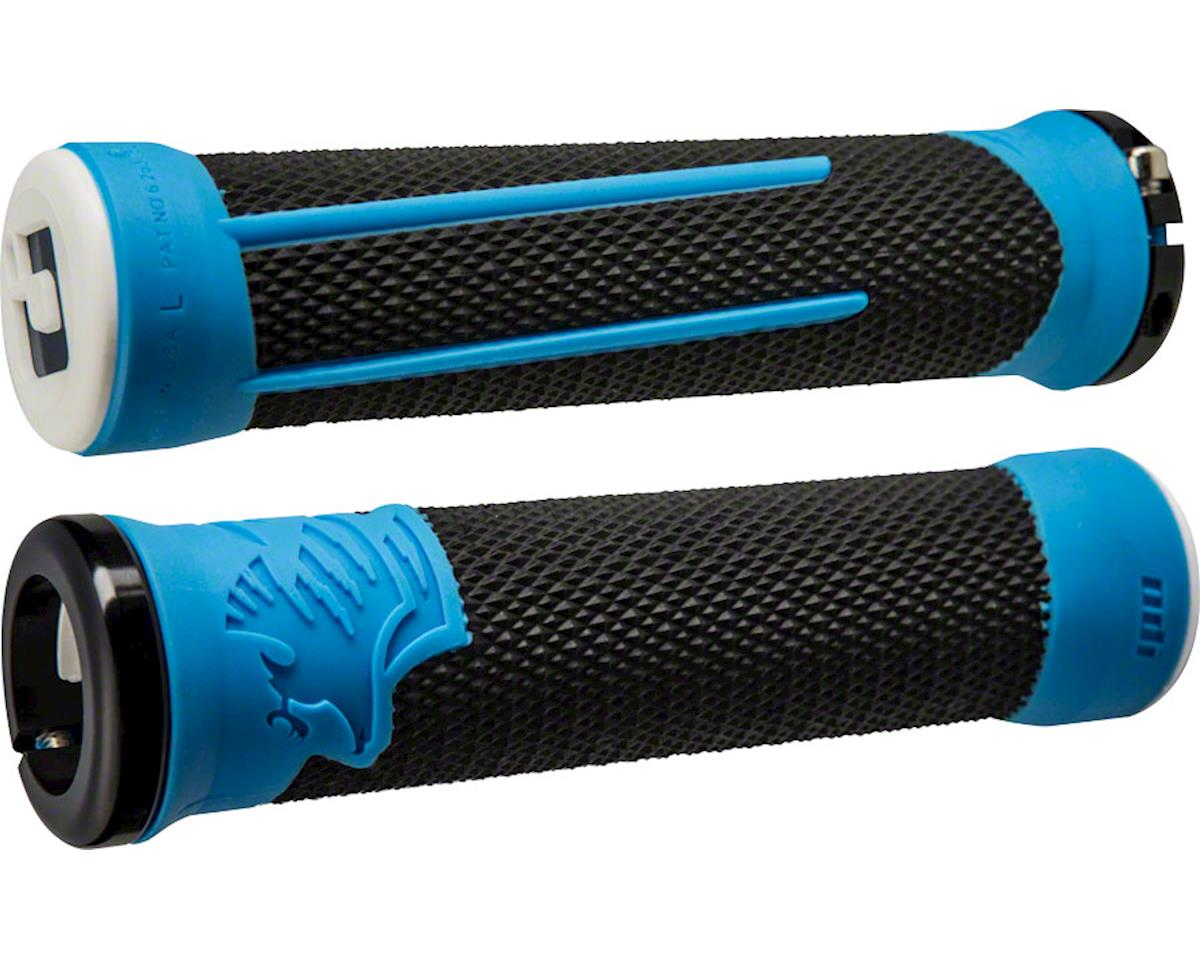 ODI AG2 Lock-On Grips (Black/Blue w/ Black Clamps) (135mm)