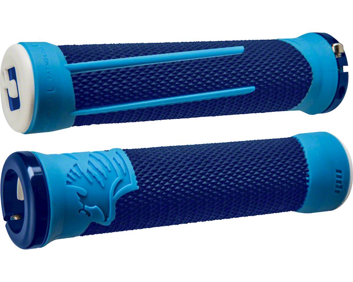 ODI AG2 Lock-On Grips (Blue/Light Blue w/ Blue Clamps)