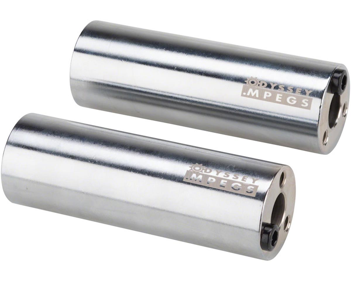 "Odyssey MPEG 14mm Pegs w/ 3/8"" Adaptor (Chrome) (Pairs)"