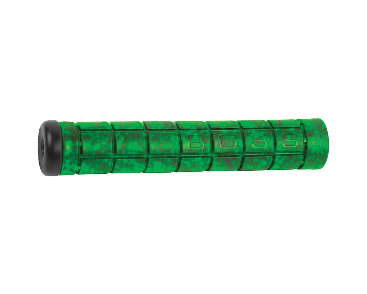 """Odyssey Aaron Ross """"Boss"""" Grips (Black/Green Swirl) (158mm)"""