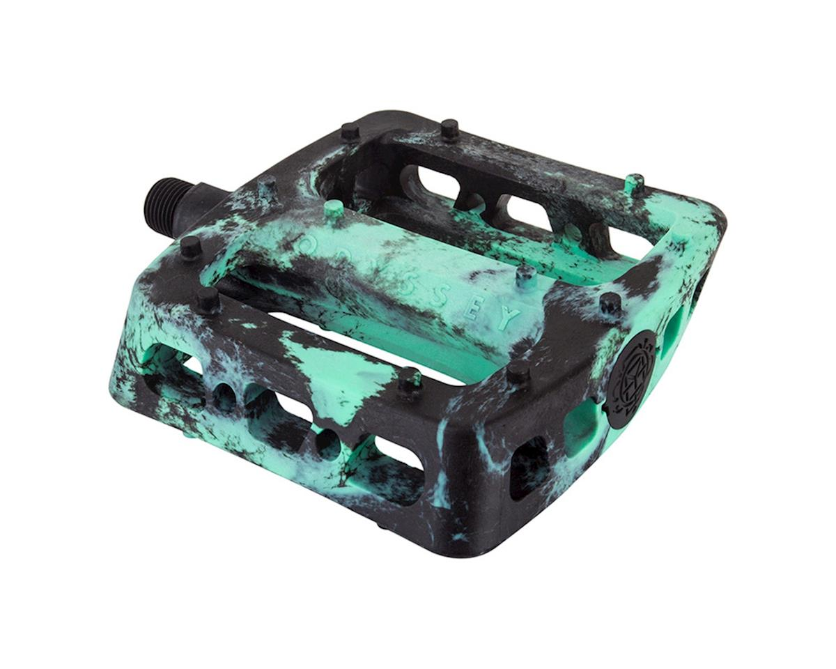 "Odyssey Twisted PC Pro 9/16"" Pedals (Black/Mint Swirl)"
