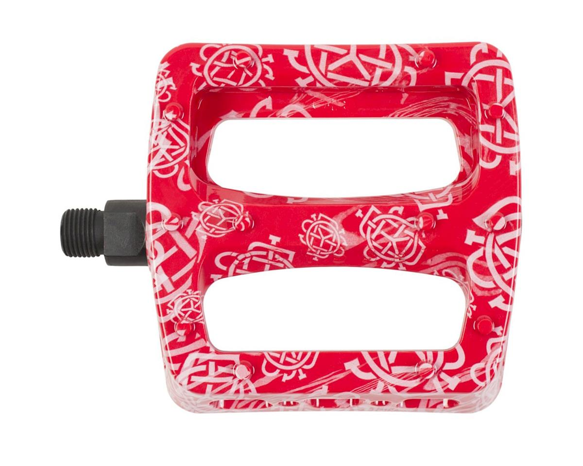 Odyssey Twisted Pro PC Pedals (Monogram Printed Red/White)