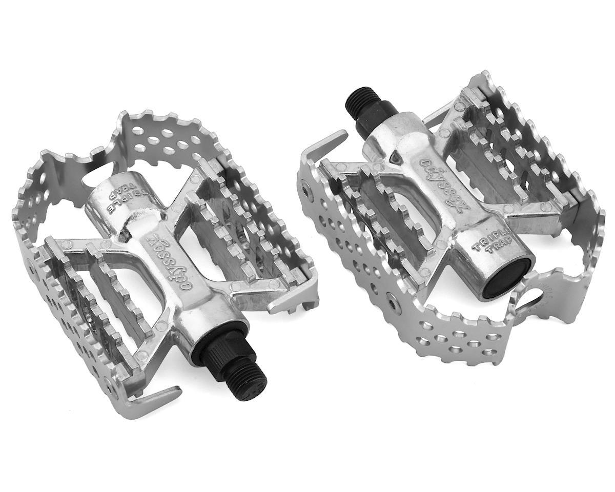 "Odyssey Triple Trap Pedals (Silver) (9/16"")"
