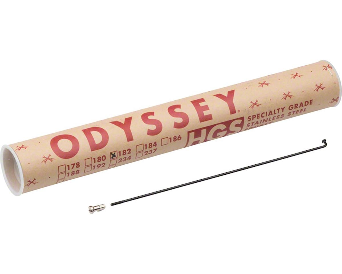 Odyssey Stainless 14g Spokes w/ Spoke Nipples (Black) (40) (182mm)
