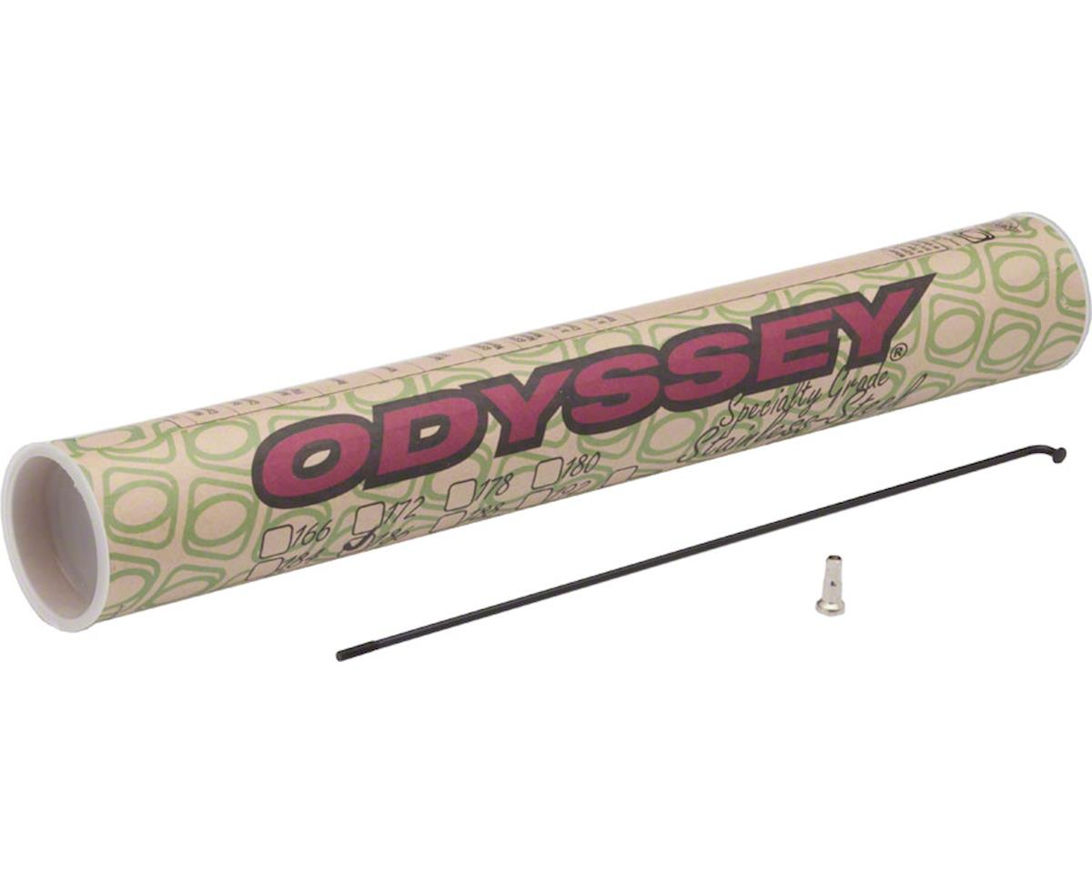 Odyssey Stainless 14g Spokes w/ Spoke Nipples (Black) (40) (188mm)