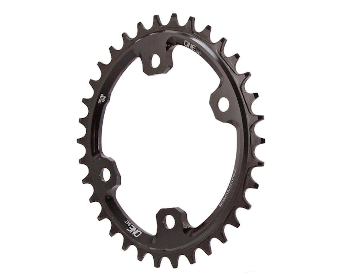 OneUp Components XT M8000 Oval Chainring (96 BCD) (Black) (34T)