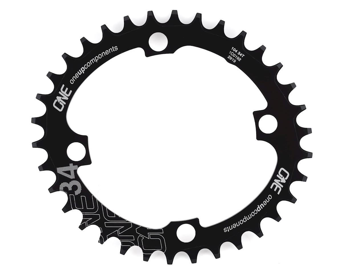 OneUp Components 104 oval chainring, 104BCD 34T black