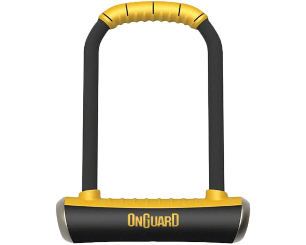 "OnGuard PitBull U-Lock with Bracket: 4.5 x 9"", Black/Yellow"